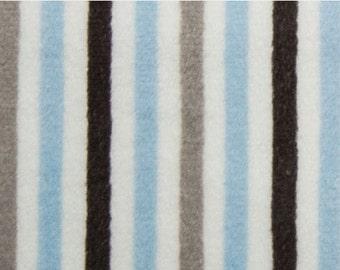 NEW Pastel Blue Gray White Stripe Blanket Baby Blue Minky Adult Blanket Blue Baby Blanket Pastel Blue Nursery Baby Blue Gray Decor
