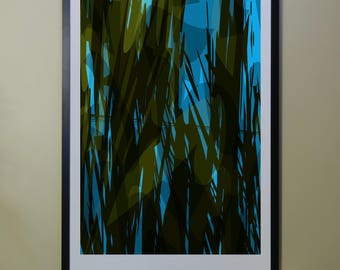 "Abstract Composition: Aspen_07_01b - Contemporary Art - Abstract Design - 26"" x 46"" and 13"" x 19"" - Limited Edition Print"