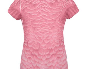Halloween Pink Flamingo Costume All Over Womens T Shirt