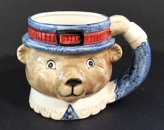 Fitz and Floyd OCI Omnibus Teddy Bear Mug, Vintage Child's Mug