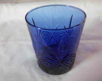 Vintage Cobalt Blue Tumbler -  Blue Glass - Cobalt Blue Glass - Water Glass - Cobalt Glass - Tumbler