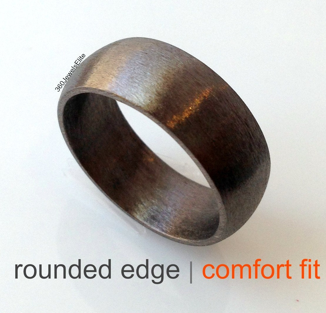Comfort fit wedding band elysian black wedding ring for men