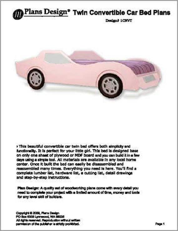 Convertible pink car twin bed woodworking plans instructions do it convertible pink car twin bed woodworking plans instructions do it yourself detail drawings and step by step instructions included from plansdesign on solutioingenieria Choice Image