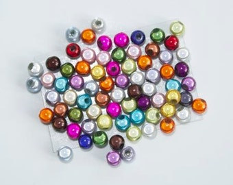 Set of 50 magic beads 4mm - multicolored