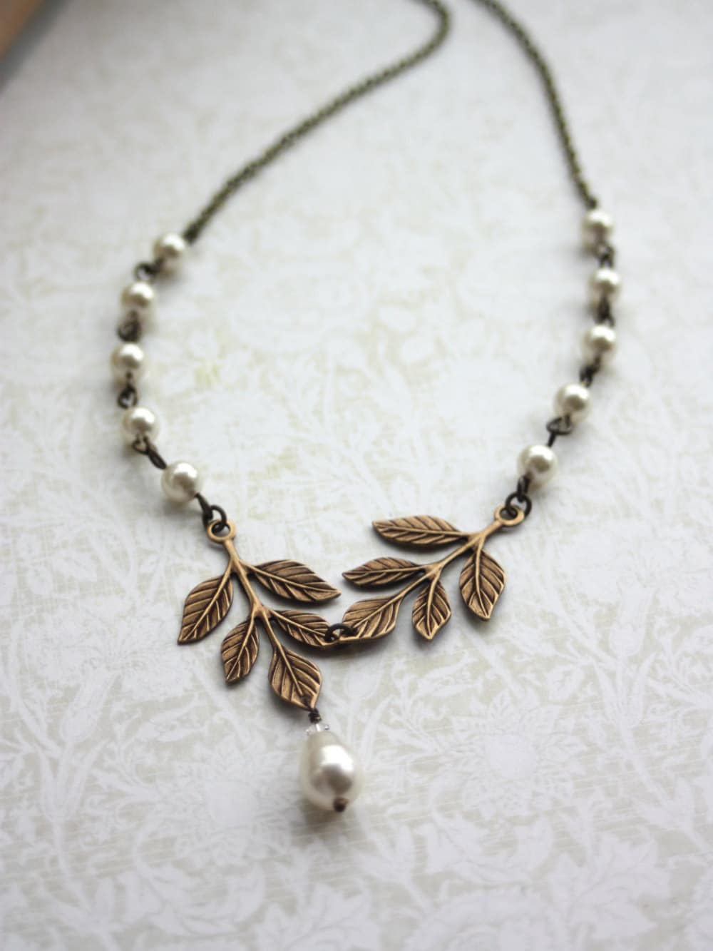 necklace cherry autumn jewelry leaves origin