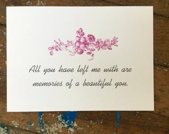 Memories Of You Letterpress Print
