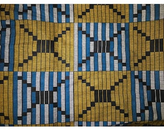 Order Anissa kente blue/beige fabric