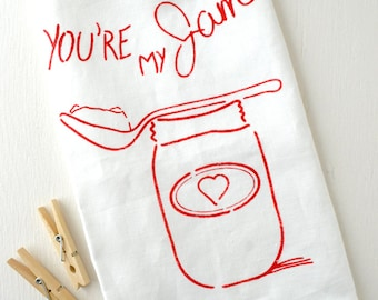 You're My Jam 100% Linen Tea Towel