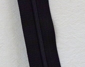 Zipper Chain 3 mm zipper chain black 5 yards