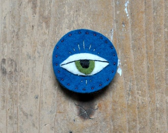 Eye for an Eye - Hand Embroidered Pin