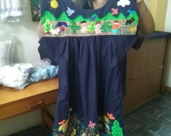 Cuyamuna handmade emboirded dress with fine touch and designs 100% cotton