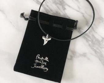 Silver Shark Tooth Choker