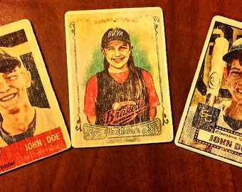 Wooden Custom Personalized Baseball Card