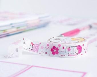 "Japan 2.0 Washi - Magenta Cherry Blossom Foil [Pink Foil, Japan Washi] // ""Dimsum Around the World"" Collection - W040"