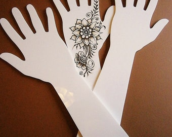 Acrylic (Perspex) Henna Mehndi Practice Hand Second Quality