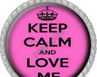 Cabochon pendant - Keep calm and Love me (532)