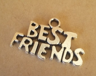 Best Friends Charms - BULK lot of 10pcs or 20pcs, 24x16mm