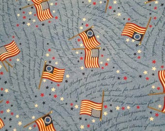 Patriotic Fabric- USA Fabric- Long May She Wave- Stars and Stripes Fabric- 4th of July Fabric From Springs Creative