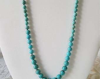 Turquoise graduated necklace