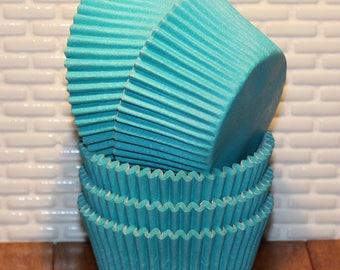 Aqua Designer Heavy Duty Cupcake Liners   (Qty 32) Aqua Cupcake Liners, Aqua Baking Cups, Aqua Muffin Cups, Cupcake Liners, Baking Cups