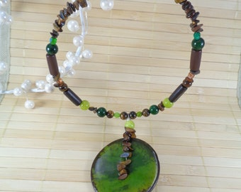 Button Necklace,African Choker,Afrocentric Jewelry,Artisan Necklace,Wooden Bead Necklace,African Necklaces,African Jewelry,Colorful Necklace