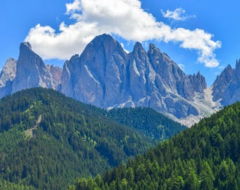 "Original photographic print ""Val di Funes"" by Emya Photography"