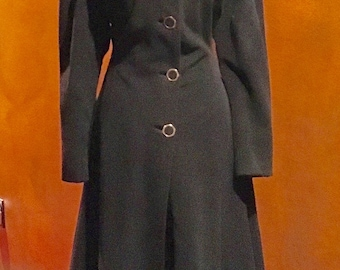 1940s Be a Russian Princess Fit and Flare Wool Coat M/L