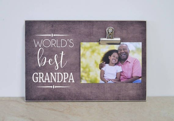 Personalized Picture Frame World S Best Grandpa