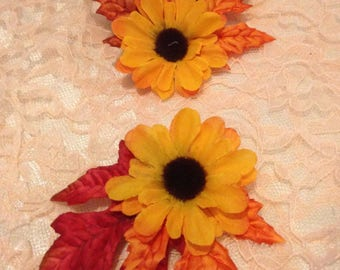 Small Sunflower Hair Flower Clip