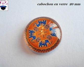 1 cabochon clear 20mm Chinese motif theme