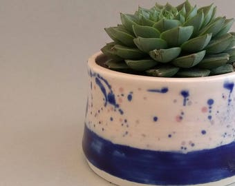 Planter, pottery planter indoor, succulent planter, speckled planter, ceramic plant pot, pottery plant pot, cactus planter, madebypowley, uk