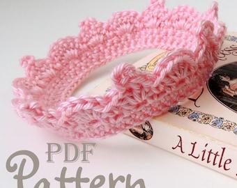 PDF CROCHET PATTERN - Make It Yourself:  Baby Crown Crochet Pattern for Girl or Boy, Lots of Photos, Baby Tiara, PhotoProp, Digital Download