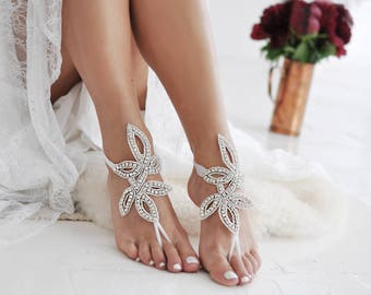 Barefoot Sandals Anklet Beach Sandals Beach Wedding Bridal