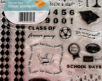 School Days Clear Acrylic Stamp Set by Fiskars Stamps 27791_6