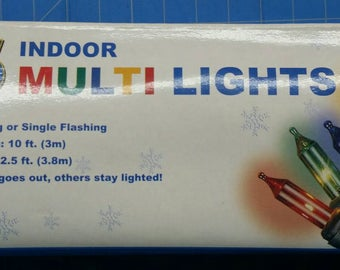 35 ct Indoor Multi Lights Green Cord (51)