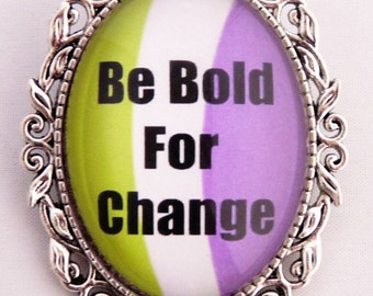 Be Bold For Change - International Women's Day 2017, the Suffragette version (silver setting)