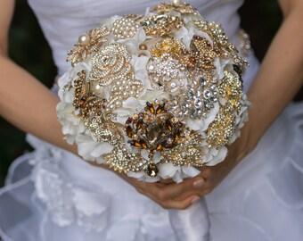 Brooch Bouquets - Keepsake Bouquet - Heirloom Bouquet - Bling Bouquet - Crystal Bouquet - Wedding Bouquet - Bridal Bouquet - DEPOSIT