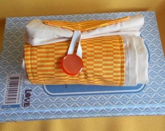 ECO Friendly Folding Shopping Bag With Yellow Decorative Band Market Bag