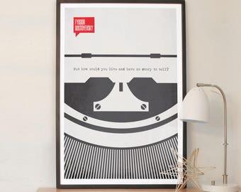 Poster Quote, Literary Quote, Art Print, Minimalist Poster, Quote, Illustration, Minimalist Quotation Print - Fyodor Dostoyevsky