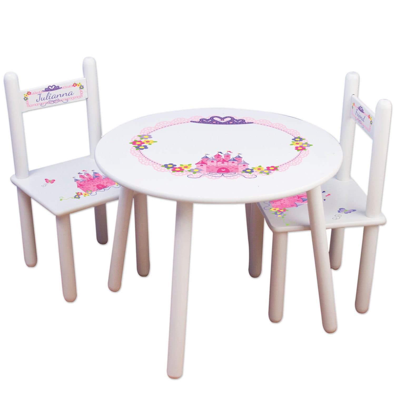?zoom  sc 1 st  Etsy & Girls Princess Table u0026 Chair Set Frozen Kids Furniture