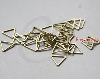 60 Pieces Raw Brass Triangle Ring - Link 12mm (3303C-N-349)
