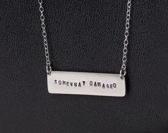 Nine Inch Nails Somewhat Damaged inspired Necklace in Sterling Silver