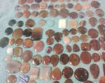 Agate Cabachons lot. 100+ stones!