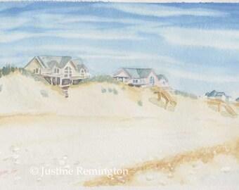 OBX Beach Houses - Original painting