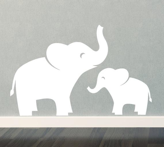 Mom U0026 Baby Elephant Wall Decal Set Jungle Safari Children