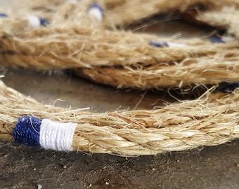 Nautical Turks Head Knot Wreath - White & Blue