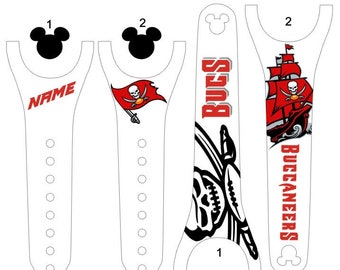 IMPROVED 2.0 Magic Band Decals, Tampa Bay, Bucs, Buccaneers, football, personalized band