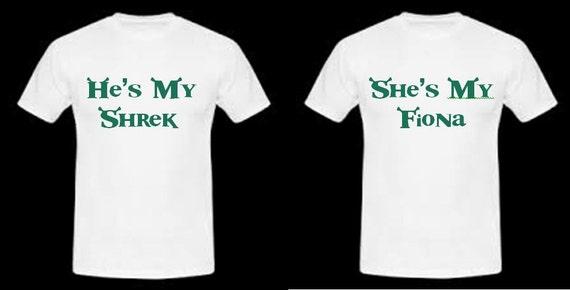 Shrek Couple Shirts - Shrek and Fiona Shirts QUYLhf2Ksv