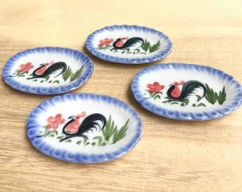 2 Miniature Ceramic Tray, Miniature Tray,Miniature food Tray,Dollhouse Tray,Ceramic tray,Dollhouse food tray,Dollhouse Miniature