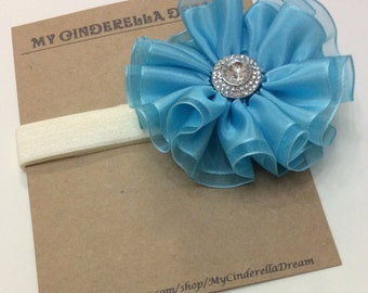 Blue Flower Headband - Flower Headband - Baby Headband - Girl's Headband - Kid's hair accessory